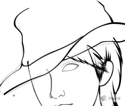 中性笔画人物眼睛