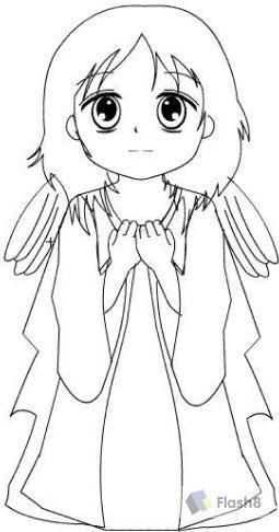 天使简笔画步骤图