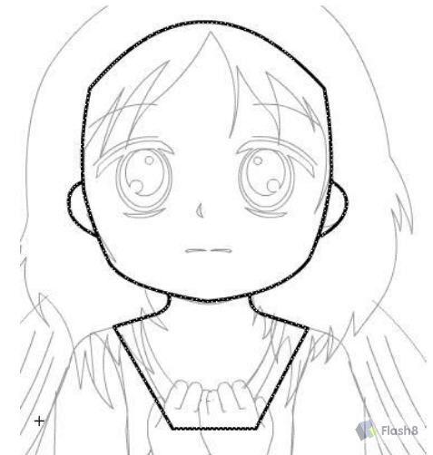 可爱超萌天使简笔画术描